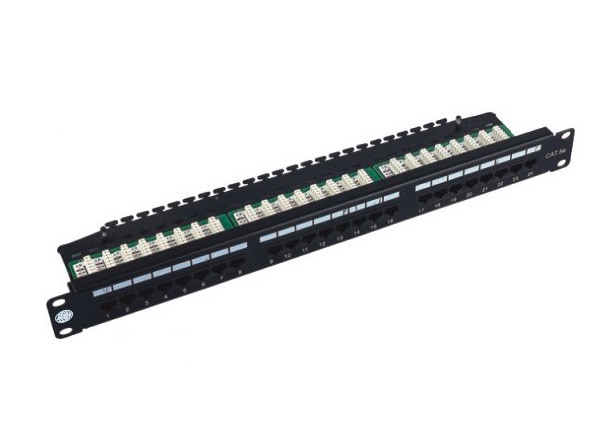 "UTP Patch Panel 24 Port Cat6 , Cold Roll Steel 19"" IDC Krone Cat6 Patch Panel"