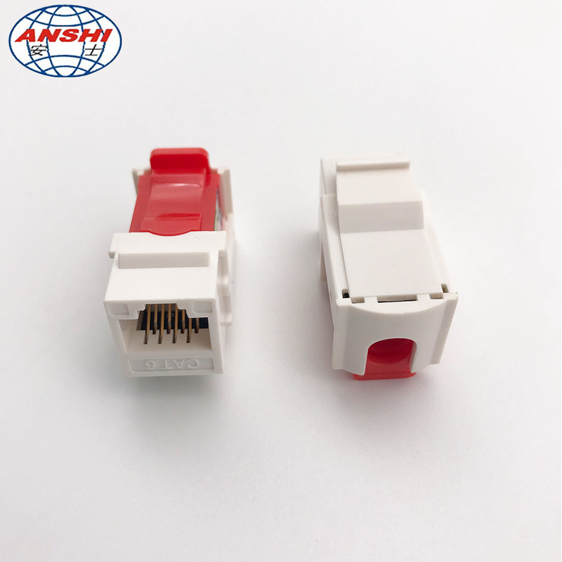 CAT6 RJ45 UTP Unshielded 90 Degree RJ45 Keystone Jack With Gold Plating