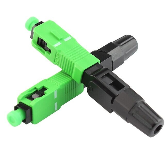 Ftth Sc / Apc Fiber Optic Accessories Quick Connector Single Mode Fiber Adapter