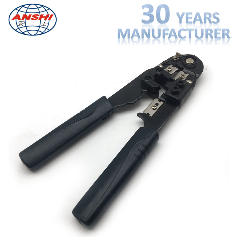 Black Network Crimp Striping Cut Tool ABS Material For Cable Striper