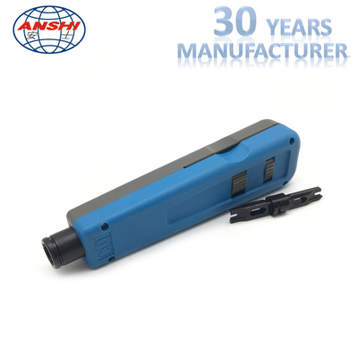 ANSHI Impact and Punch Down Tool for 110 Wires Block Rack Mount Blue Color